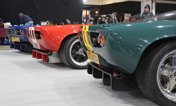 GD Cobra replica's and T70's at Stoneleigh Kit car show
