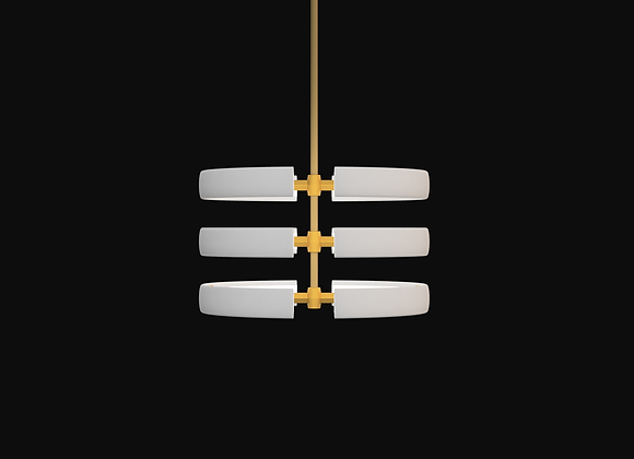 Split Stack Pendant - 3 Rings