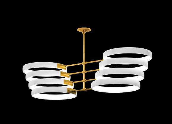 Mirrored Angled Stack - 8 Rings