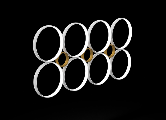 Adjoined Wall Sculpture - 6 Rings