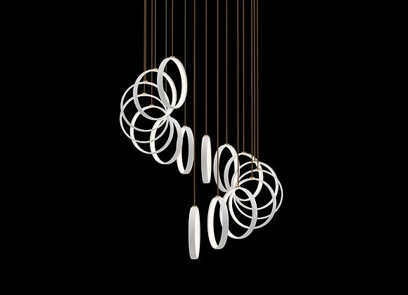 Mono Rigid Pendant Set - 16 Ring Spiral