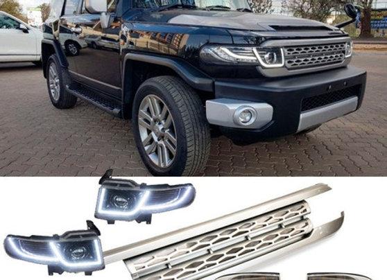 ARZ Kit Parrilla Faros Cuartos Toyota Fj Cruiser Tipo Land Rover