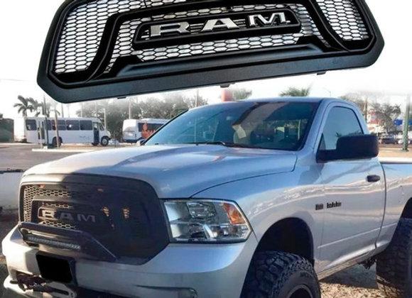 ARZ Parrilla Dodge Ram 1500 Negro Letra Gris Luz Led Ambar 13-18