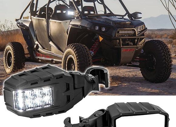Kit 2 Espejos Retrovisor Laterales Can Am Maverick X3 Max Luz Led