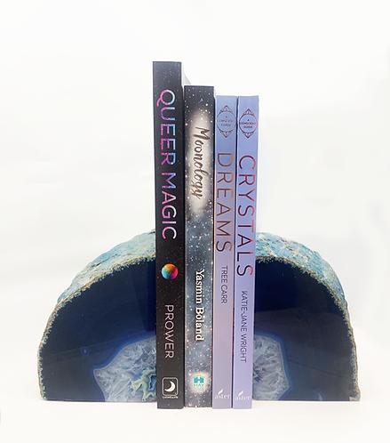 BOOK ENDS, BLUE AGATE