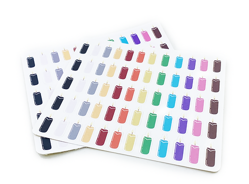 BULLET JOURNAL CANDLE STICKERS