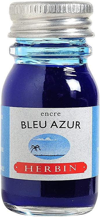 J.HERBIN INK, BLEU AZUR, AZURE BLUE  10ML