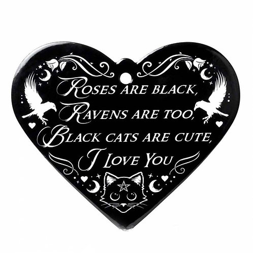 ROSES ARE BLACK - POETIC HEART TRIVETY