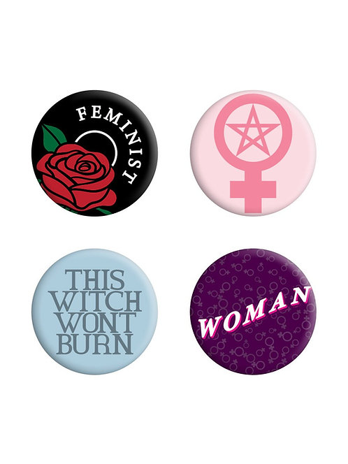 THIS WITCH WON'T BURN, FEMINIST BADGE PACK