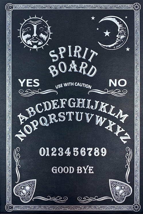 NEMESIS NOW, EMBOSSED JOURNAL BLACK AND WHITE SPIRIT BOARD