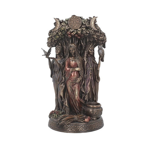 MAIDEN, MOTHER & CRONE TRIPPLE MOON BRONZE STATUE