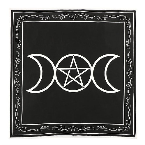 70x70CM TRIPLE MOON ALTAR CLOTH