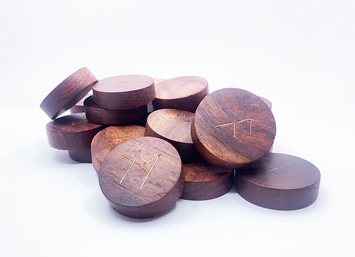 HAND-CARVED WOODEN RUNES