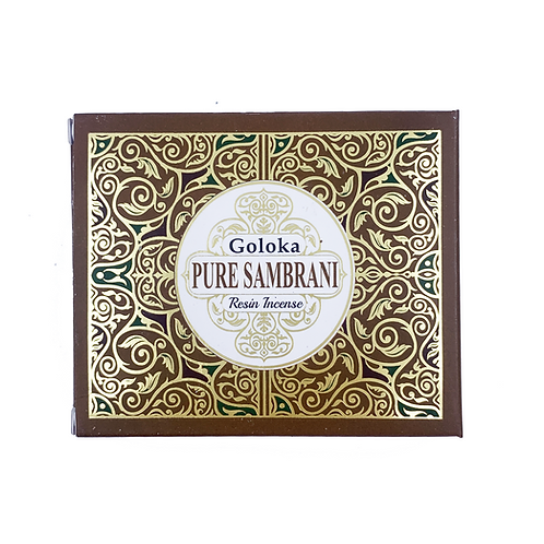 GOLOKA PURE SAMBRANI RESIN INCENSE 50G