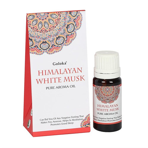 GOLOKA HIMALAYAN WHITE MUSK FRAGRANCE OIL 10ML