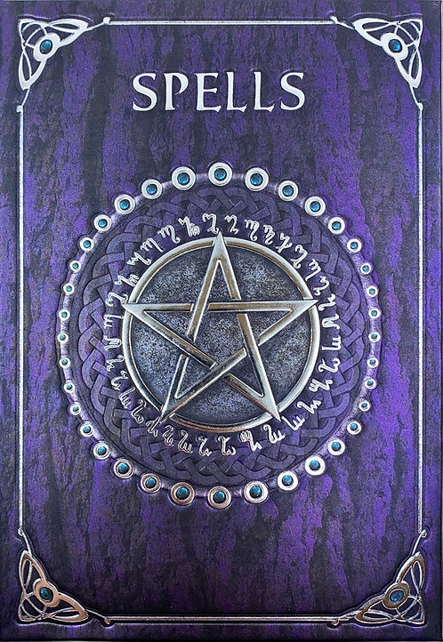 NEMESIS NOW, EMBOSSED SPELL BOOK PURPLE