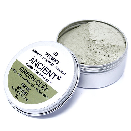 ANCIENT WISDOM GREEN CLAY FACE MASK (DETOX) 50g