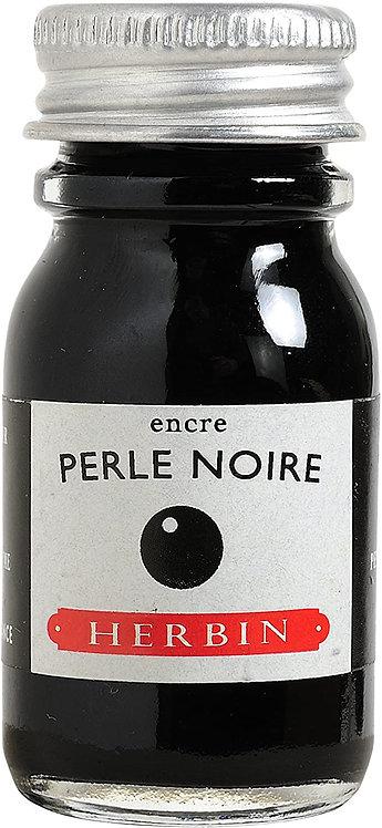 J.HERBIN INK, PERLE NOIRE, BLACK PEARL 10ML