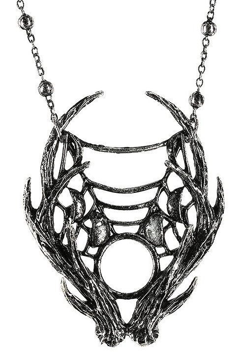 RESTYLE  MOON ANTLER  NECKLACE