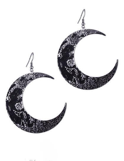 RESTYLE MOON TEXTURED EARRINGS