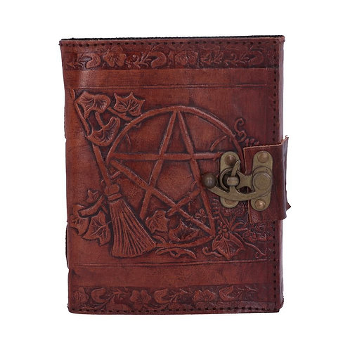 PENTAGRAM LEATHER EMBOSS JOURNAL WITH LOCK