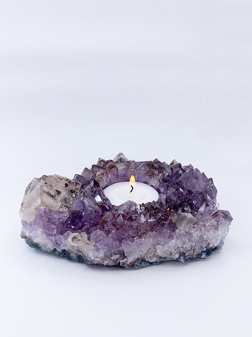 CANDLE HOLDER  AMETHYST