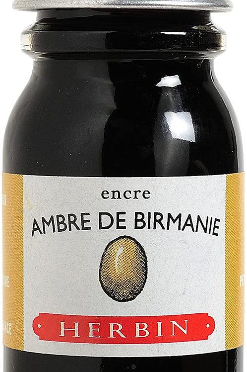 J.HERBIN INK, AMBRE DE BIRMANIE, AMBER OF BURMA 10ML