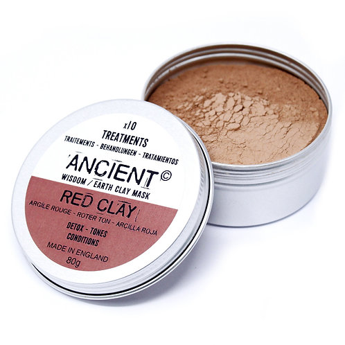 ANCIENT WISDOM RED CLAY FACE MASK (ANTI-INFLAMATORISK) 50g