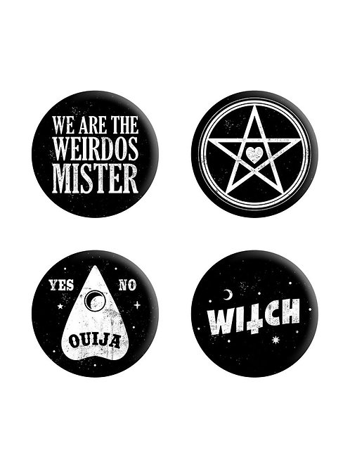 WE ARE THE WEIRDOS MISTER,  BADGE PACK