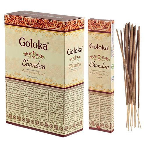 GOLOKA MASALA CHANDAN SANDALWOOD INSENCE STICKS