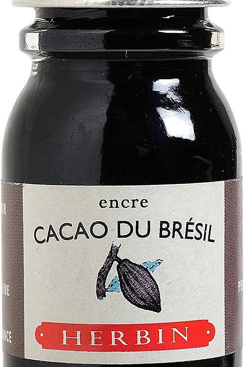 J.HERBIN INK, CACAO BU BRÉSIL, BRAZILLIAN BROWN COCOA10ML