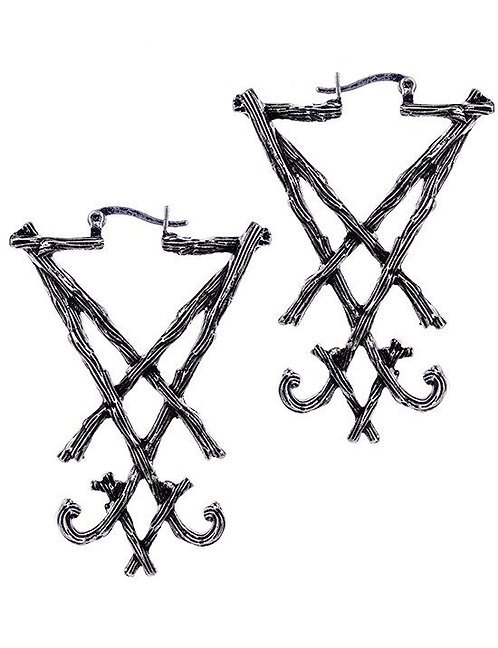 RESTYLE EARRINGS LUCIFER SIGIL