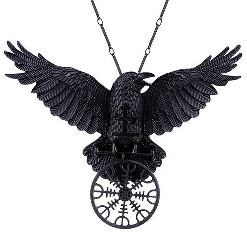 RESTYLE NECKLACE HELM OF AWE RAVEN