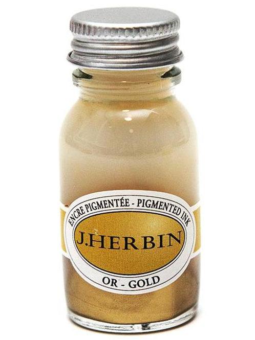 J.HERBIN PIGMENTED INK, OR - GOLD 10ML