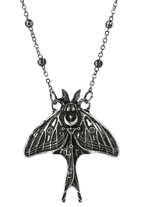RESTYLE  MOON MOTH  NECKLACE