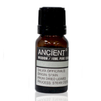 ANCIENT WISDOM ESSENTIAL OIL, SAGE 10ml