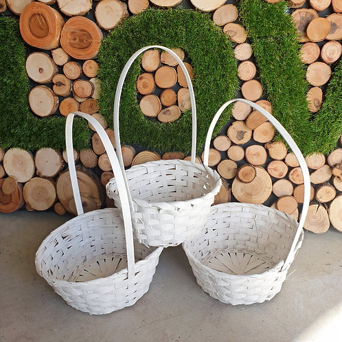 Confetti Baskets White