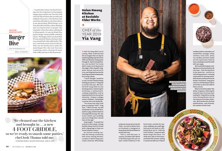 Mpls.St.Paul Magazine Dec 2019 Cover+Feature