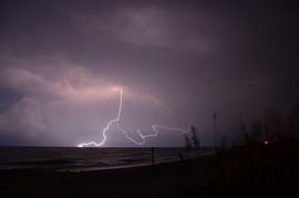 Lightning over the Beach