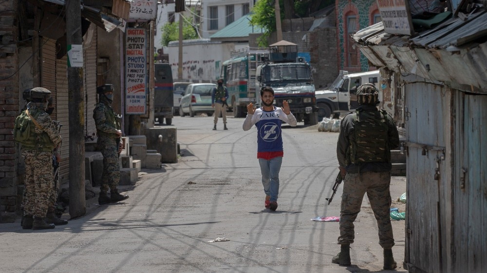 More than half a million Indian soldiers are deployed in Kashmir, making it one of the most militarised zones of the world [File: Dar Yasin/AP Photo]