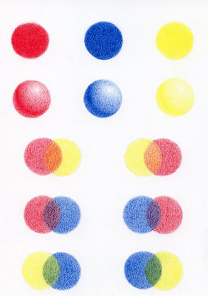 Step by step tutorial using 3 primary colours