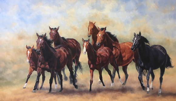Thundering Hooves-avail. at Art Gallery on Ovens