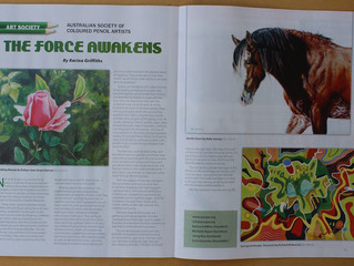 Artwork featured in Aust. Artist magazine