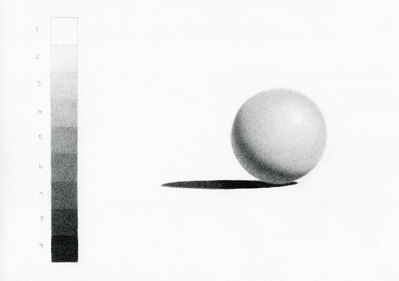 Step by step-shading in graphite pencil