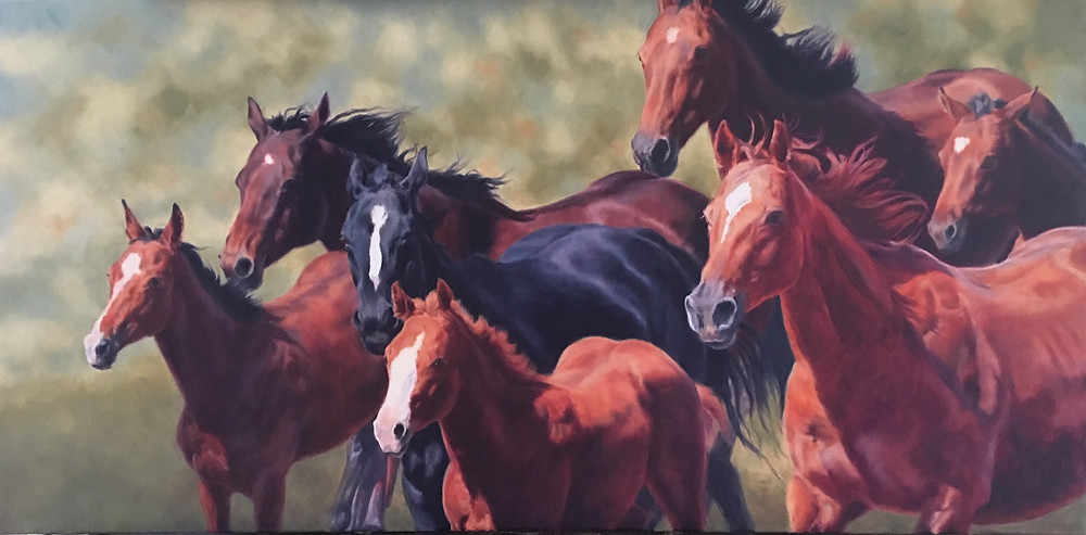 Free Spirits, horses running with the wind