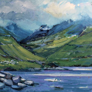 Skyer over fjeld og fjord 60 x 80