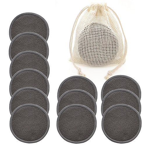 Reusable Bamboo Makeup Remover Pads 12pcs/Bag Washable Rounds Cleansing