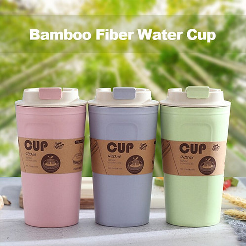 Eco Friendly Reusable Travel Coffee Cup - 16oz | Takeaway Bamboo Mug with Lid |