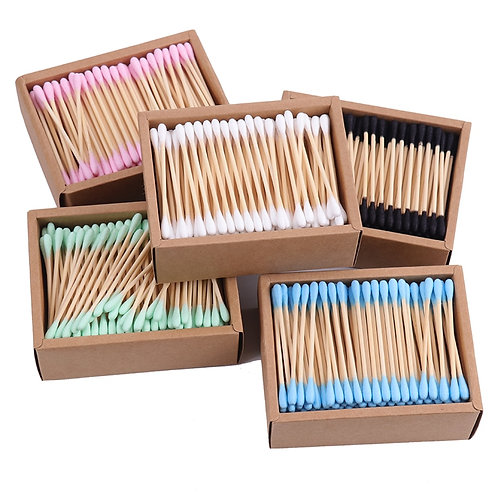 Double Head Cotton Swab Bamboo Sticks Cotton Swab Disposable Buds