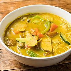 "N2. Curry ""Chicken"" Noodle Soup"